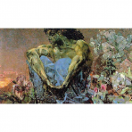 Demon Seated, Mikhail Vrubel, 1890