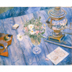 Still Life with a Samovar, Kuzma Petrov-Vodkin,